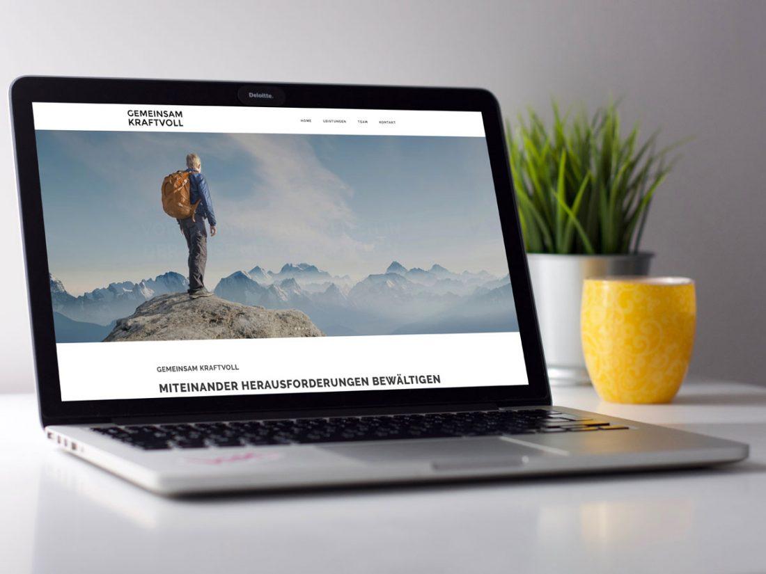 Gemeinsam Kraftvoll Laptop | creo-media GmbH Hannover