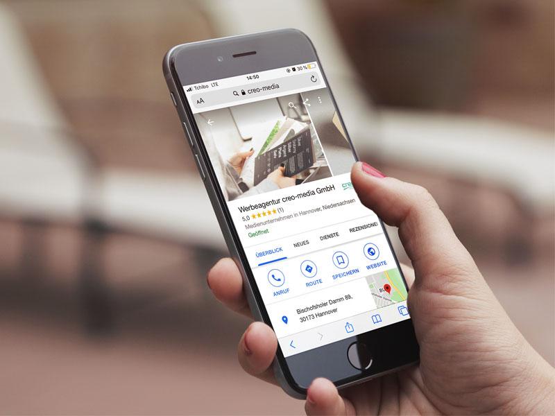 Google My Business | creo-media GmbH Hannover