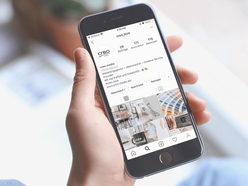 Instagram Account Pflege