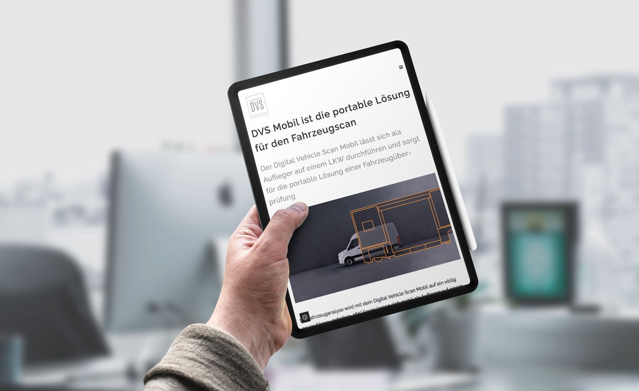 DVS_Website2 tablet |creo-media GmbH Hannover