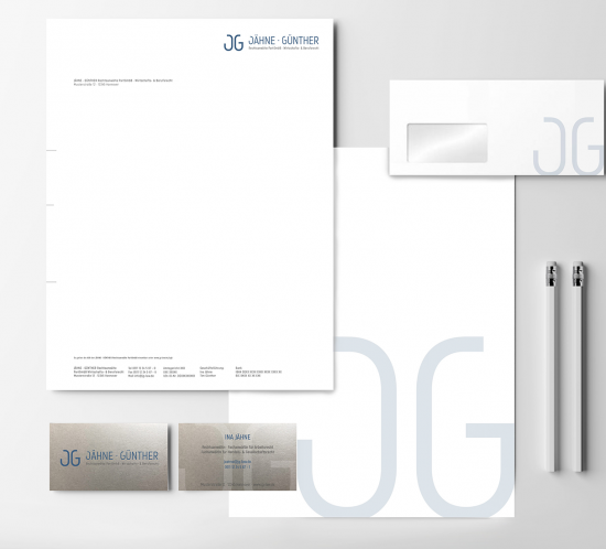 branding fuer jaehne guenther rechtsanwaelte  creo-media GmbH Hannover