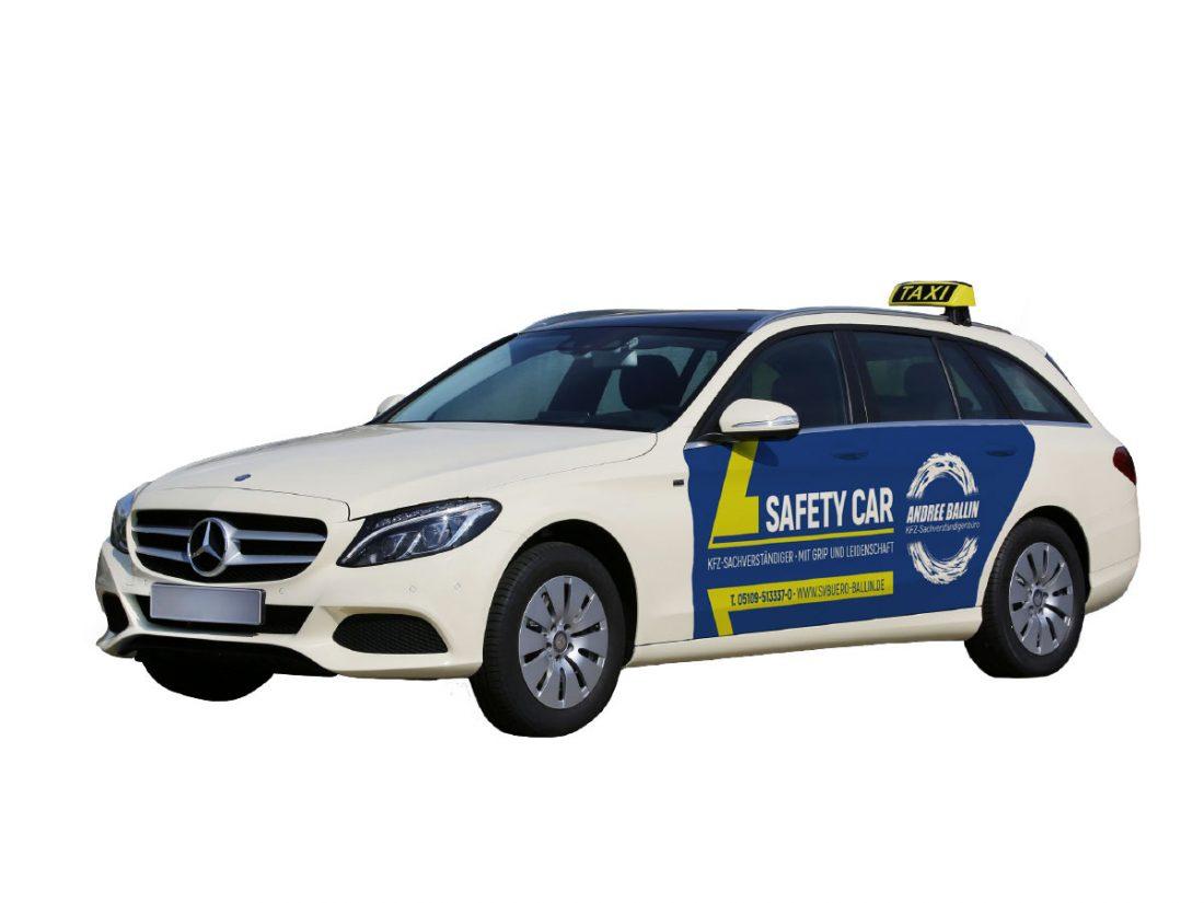 KFZ-Sachverständigenbüro Andree Ballin Taxi-Werbung |creo-media GmbH Hannover