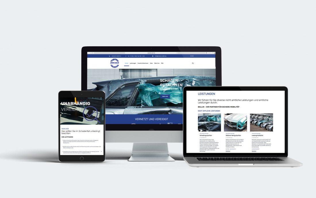 KFZ-Sachverständigenbüro Andree Ballin Website |creo-media GmbH Hannover