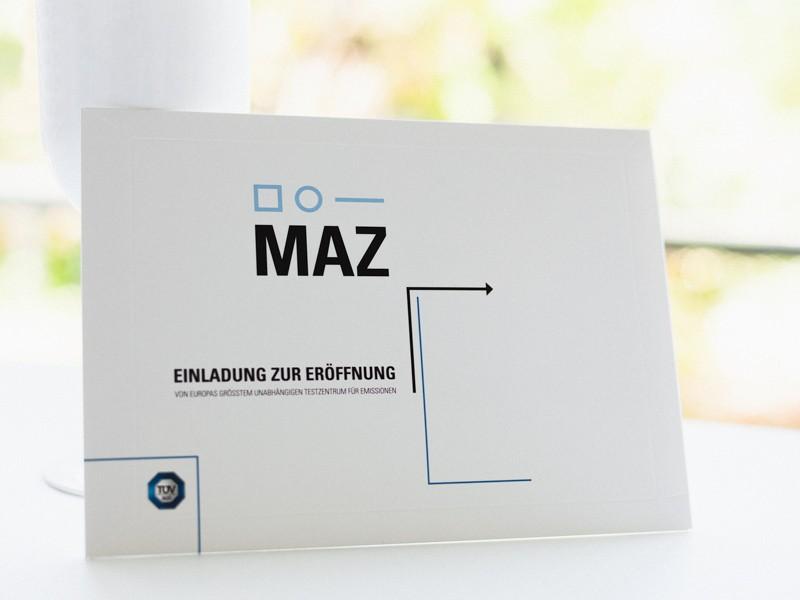 MAZ-einaldung 6 tuev sued umschlag |creo-media GmbH Hannover